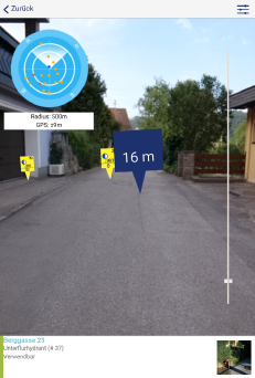 Live Ansicht mit Augmented Reality